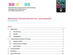 """Wegweiser: Zum fertigen Spot mit """"Actionbound"""""""